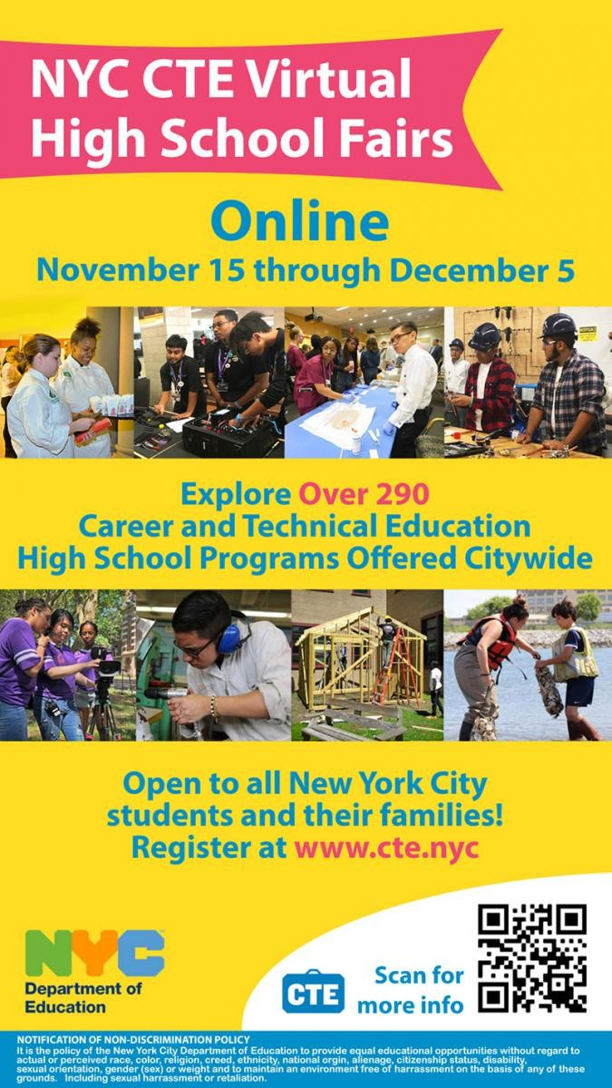 NYC CTE Virtual High School Fairs 2020