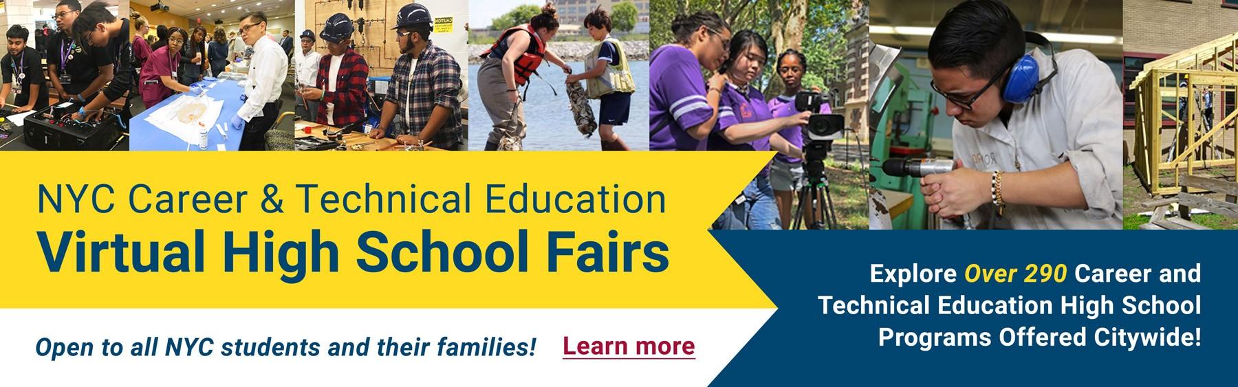 CTE Virtual High School Fairs